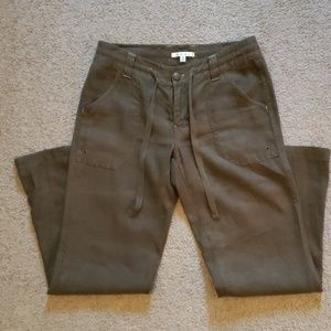 khaki/greenish Linen pants